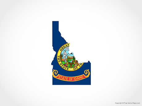 Free Vector Map of Idaho - Flag