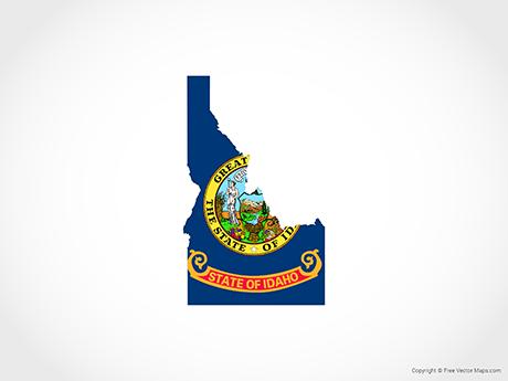 Map of Idaho - Flag