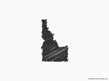 Map of Idaho - Sketch