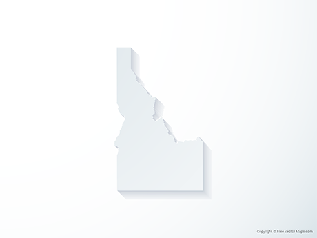 Free Vector Map of Idaho - 3D
