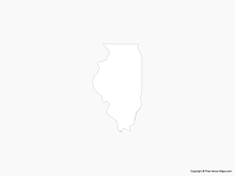 Free Vector Map of Illinois - Outline