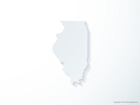 Free Vector Map of Illinois - 3D