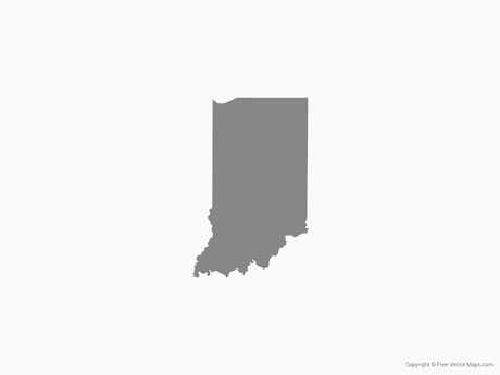 Map of Indiana - Single Color
