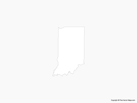 Free Vector Map of Indiana - Outline