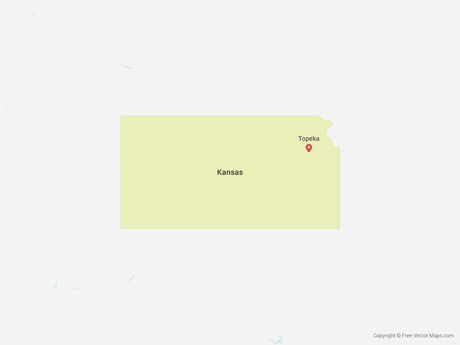 Free Vector Map of Kansas