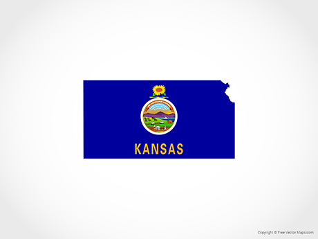 Vector Map of Kansas - Flag | Free Vector Maps on ky us map, id us map, france us map, nh us map, london us map, wi us map, maine us map, nationwide us map, or us map, district of columbia us map, florida us map, mx us map, pa us map, va us map, delaware us map, nd us map, wv us map, ma us map, ap us map, manhattan us map,