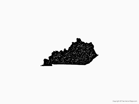 Free Vector Map of Kentucky - Stamp