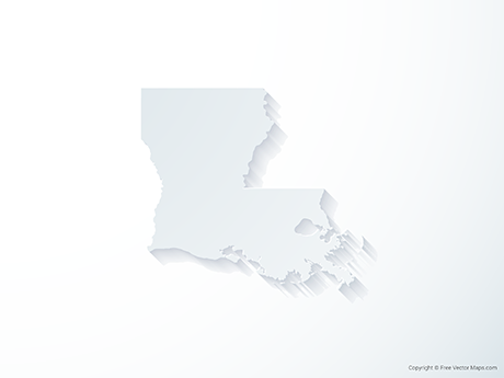 Free Vector Map of Louisiana - 3D