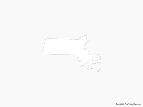 Free Vector Map of Massachusetts - Outline