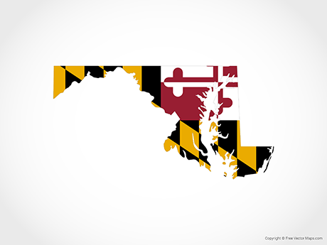 Free Vector Map of Maryland - Flag