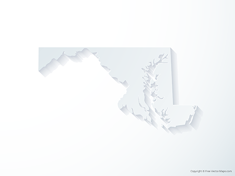 Free Vector Map of Maryland - 3D