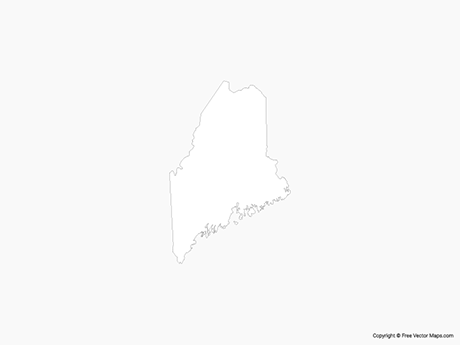Map of Maine - Outline