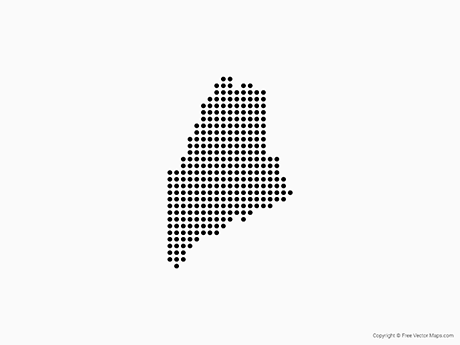 Free Vector Map of Maine - Dots