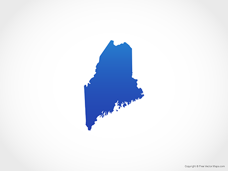 Maine Map Images.Vector Map Of Maine Blue Free Vector Maps
