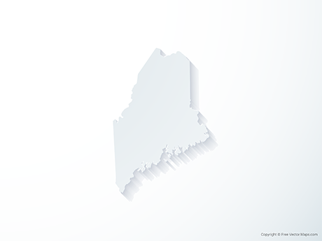 Free Vector Map of Maine - 3D