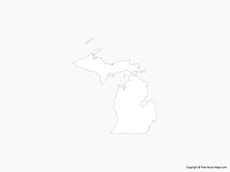 Map of Michigan - Outline