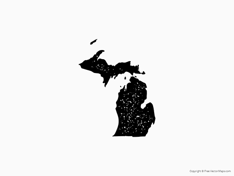 Map of Michigan - Stamp