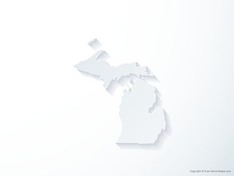 Free Vector Map of Michigan - 3D