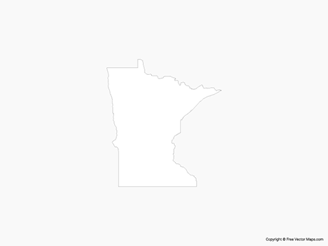 Map of Minnesota - Outline