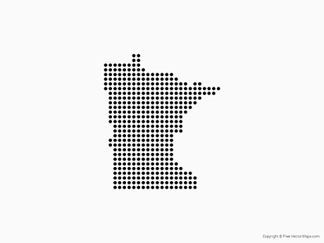 Free Vector Map of Minnesota - Dots