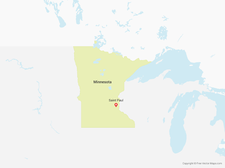 Free Vector Map of Minnesota