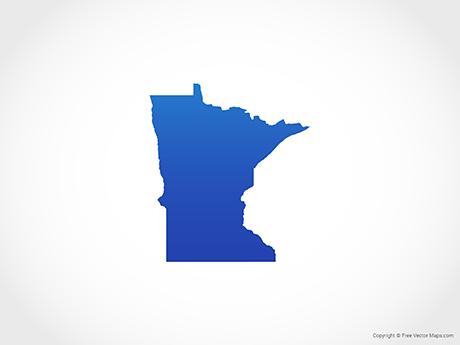 Free Vector Map of Minnesota - Blue