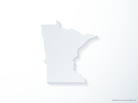 Free Vector Map of Minnesota - 3D