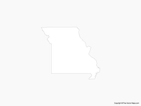 Free Vector Map of Missouri - Outline