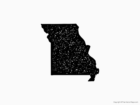 Free Vector Map of Missouri - Stamp