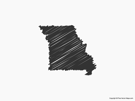Free Vector Map of Missouri - Sketch