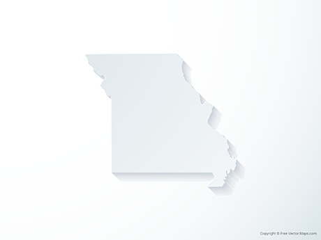 Free Vector Map of Missouri - 3D