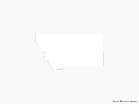 Free Vector Map of Montana - Outline