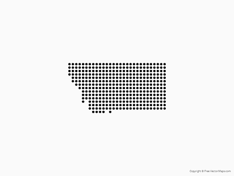 Free Vector Map of Montana - Dots