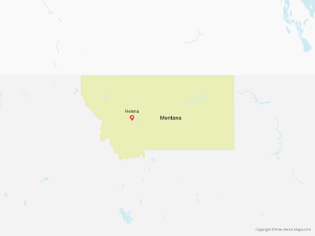 Free Vector Map of Montana