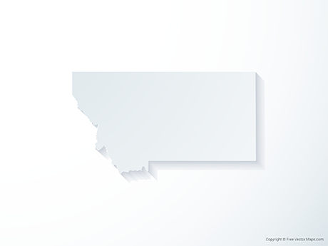 Free Vector Map of Montana - 3D