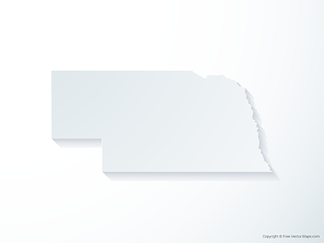 Free Vector Map of Nebraska - 3D
