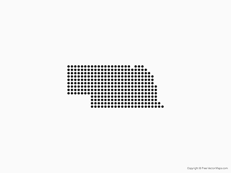 Free Nebraska Map.Vector Map Of Nebraska Dots Free Vector Maps