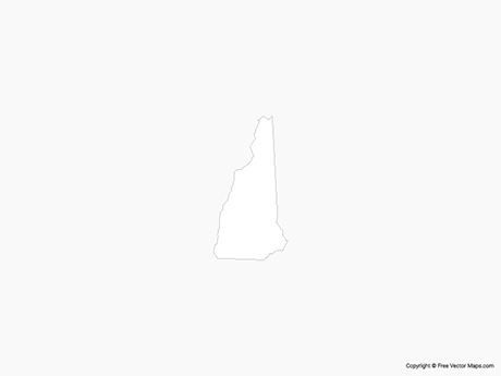 Map of New Hampshire - Outline