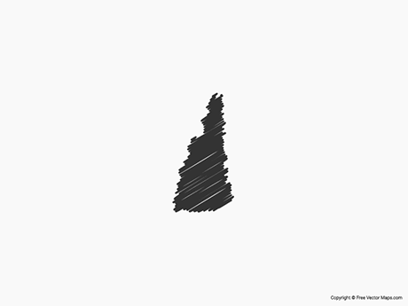 Free Vector Map of New Hampshire - Sketch