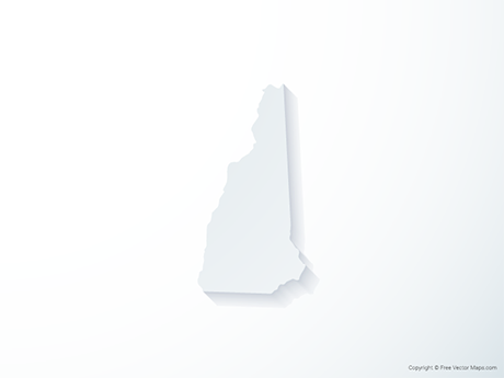 Free Vector Map of New Hampshire - 3D