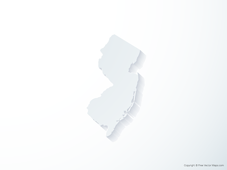 Free Vector Map of New Jersey - 3D