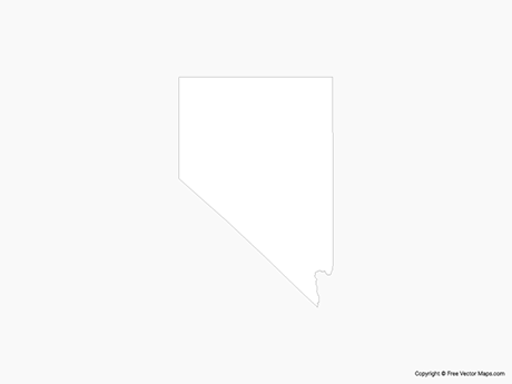 Map of Nevada - Outline