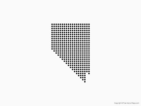 Free Vector Map of Nevada - Dots