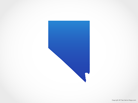 Free Vector Map of Nevada - Blue