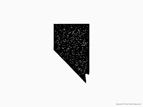 Free Vector Map of Nevada - Stamp