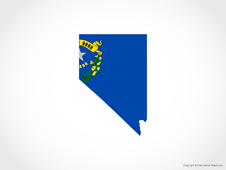 Free Vector Map of Nevada - Flag