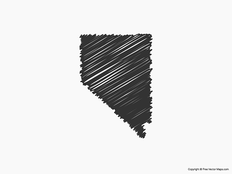 Free Vector Map of Nevada - Sketch