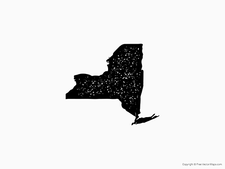 Free Vector Map of New York - Stamp