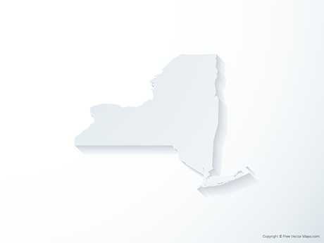 Free Vector Map of New York - 3D