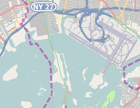 Vector Map of New York City